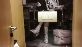 Blick ins neue Damen-WC des ARCADEON