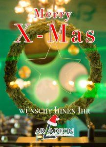 Weihnachtsgrüsse aus dem ARCADEON